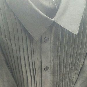 FASHION HACK FIND Black Ruffle Sleeve Blouse